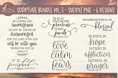 Scripture Bundle Vol. 3 - 6 Designs - SVG, DXF & PNG
