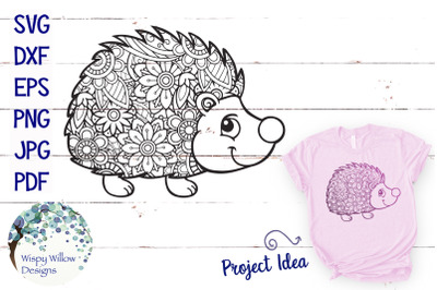 Hedgehog Zentangle