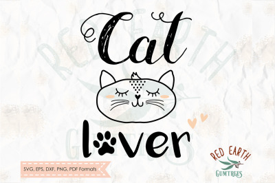 Cat lover , cat with lashes SVG, PNG, EPS, DXF, PDF