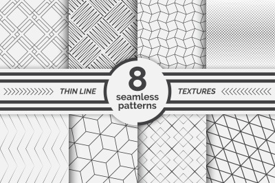 Modern linear seamless patterns