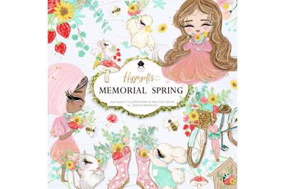 Memorial Spring Clip Art