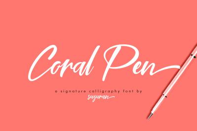 Coral Pen Script
