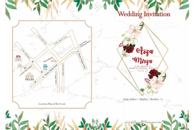Wedding Vintage Invitation Template