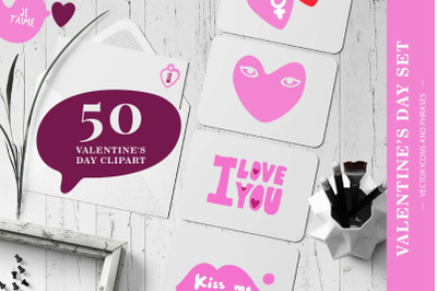Valentine's Day Vector Images Set