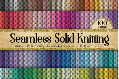 100 Seamless Solid Ugly Sweater Knitting Digital Papers