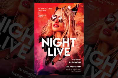 Night Live Party Flyer