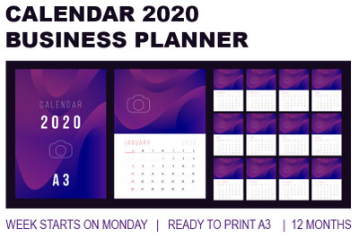 Calendar 2020 -  Business Desk Calendar