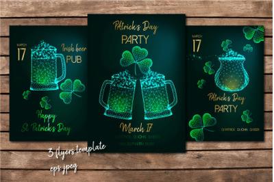 St. Patrick's Day flyers.