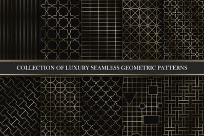 Luxury seamless geometric patterns