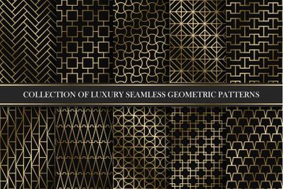 Golden seamless geometric patterns