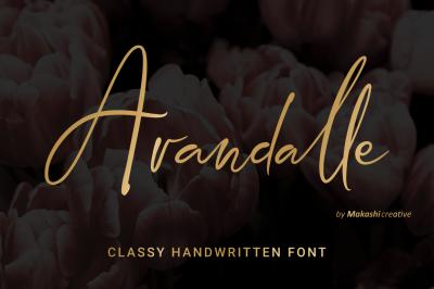 Arandalle Script Font