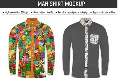 Man shirt mockup
