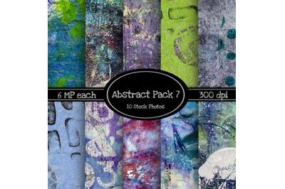 10 Pack of Abstract Texture Backgrounds Pack 7
