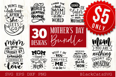 Mother's Day SVG bundle 30 designs Mother's Day SVG