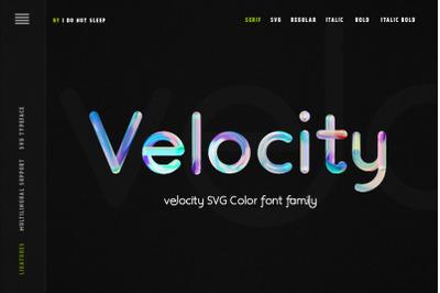 Velocity SVG Font