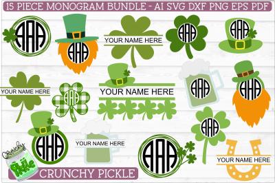 St Paddy Monogram SVG File Bundle