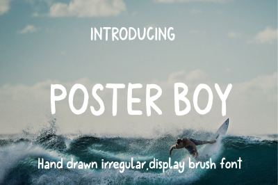 Poster Boy Brush Display Font