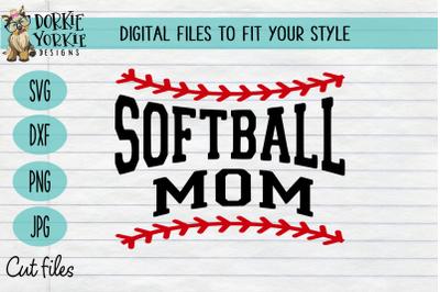 Softball Mom Laces - SVG Cut File
