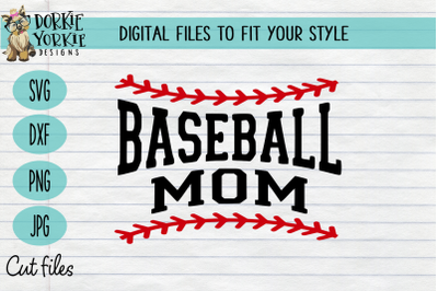Baseball Mom Laces - SVG Cut File