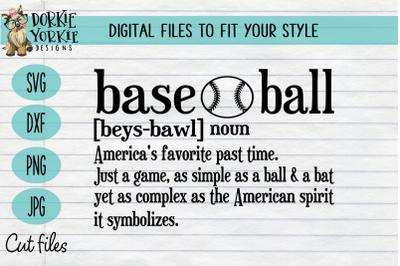 Definition Baseball - Sport - SVG Cut File