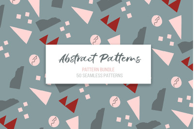 Abstract vector patterns. Big geometric collection