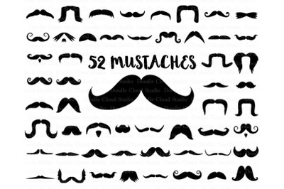 Mustaches SVG Files, Mustache SVG File for Silhouette Cameo and Cricut