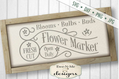 Fresh Flower Market SVG DXF Cut File