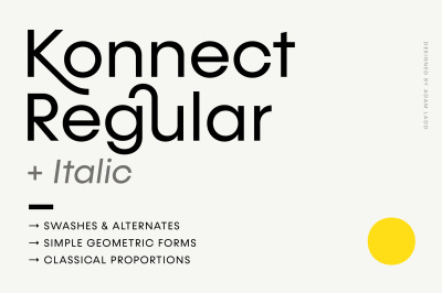 Konnect Regular + Italic Fonts