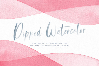 Watercolor Dip Dye Backgrounds PNG JPEG and PS Brushes