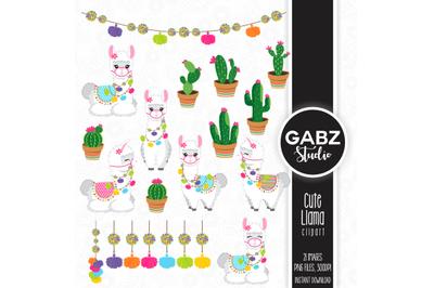 Cute Llama Clip art