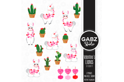 Valentines Llama Clip art