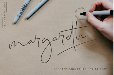 margareth elegant signature script