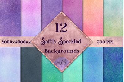 Softly Speckled Backgrounds - 12 Image Set