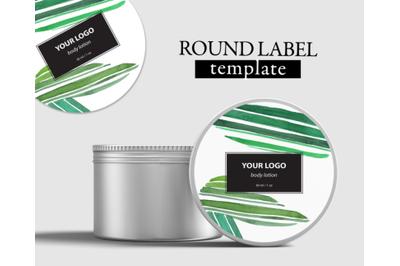 SOAP LABEL DESIGN Cosmetic label PSD
