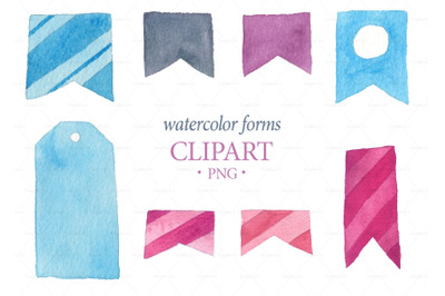 Watercolor Frames Clipart