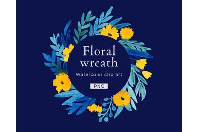 Wreath Watercolor clip art