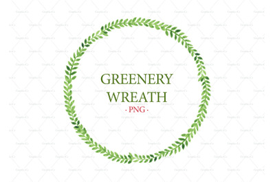 Green wreath png greenery clipart