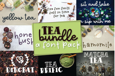 Tea Bundle - A Font Pack of Varie-Tea!