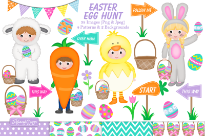 Easter clipart, easter graphics and illustrations - C32
