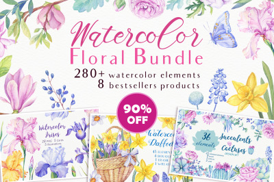 -90%OFF Watercolor Bundle