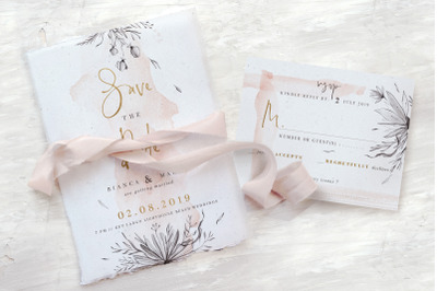 Peach & Grey Floral Wedding Suite