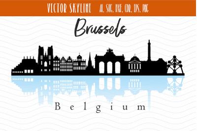 Brussels City Skyline SVG