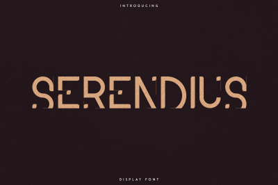 Serendius - Display font