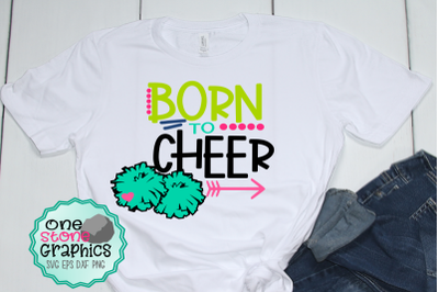 Born to cheer svg,cheerleader svg