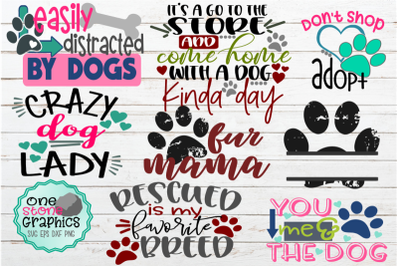dog bundle svg,dog lover svg,paw print svg,rescued svg