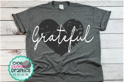 Grateful svg,grunge heart svg,Grateful heart svg