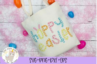 Hoppy Easter Plaid SVG