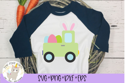 Easter Truck Bunny Ears SVG