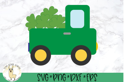 St Patricks Lucky Truck SVG