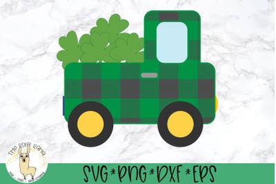 St Patricks Lucky Plaid Truck SVG